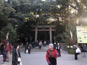 日本最古の神社にて初詣
